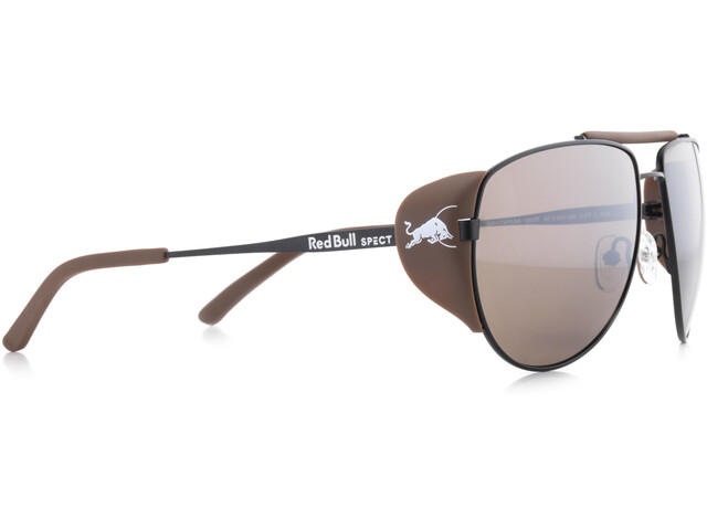 Red Bull SPECT Grayspeak Lunettes de soleil, black/brown-silver flash